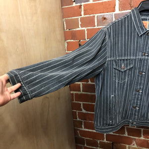 SUPREME X LEVIS pinstriped denim jacket