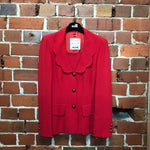 MOSCHINO flower collar 1990s red suit
