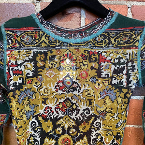 JEAN PAUL GAULTIER Persian rug mesh top