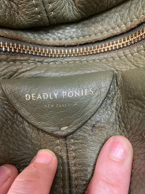 DEADLY PONIES leather handbag