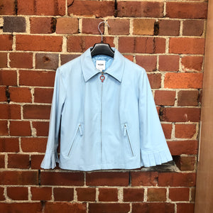 MOSCHINO powder blue 90's stretch jacket