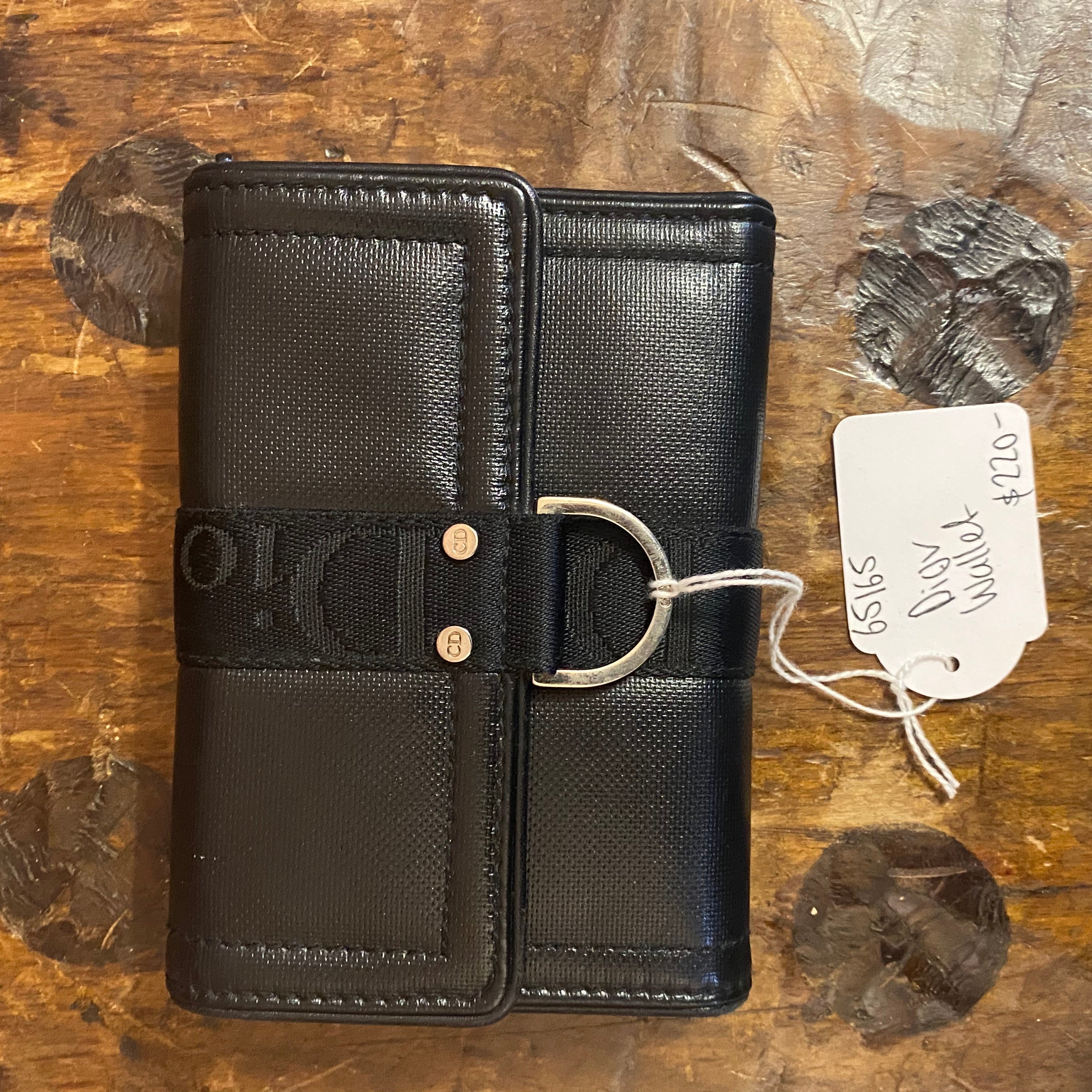 CHRISTIAN DIOR leather wallet