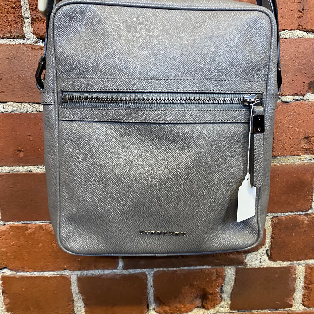 BURBERRY messenger leather bag