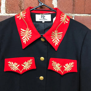 Gorgy 1980s embroided wool jacket made in London
