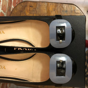 PRADA leather flats 37.5
