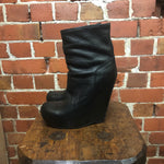 RICK OWENS leather boots 36
