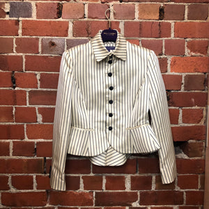RALPH LAUREN satin striped jacket