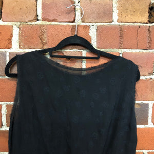 COMME DES GARÇONS embroided silk low back top