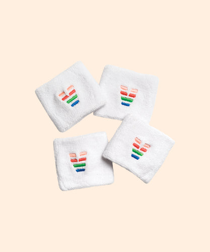 White Logo Sweatband