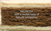 Easychange® Dependable Natural Coir and Lambswool with Pocket Sprung Cot Mattress - With 2 Microfibre Toppers - Cot Mattress Company