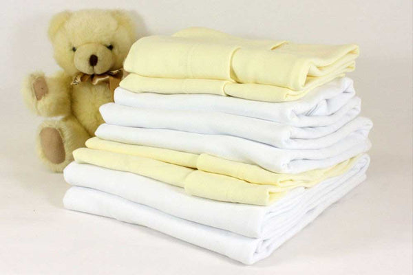 100% Cotton Fitted Sheets – Crib White
