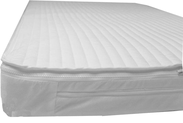 Easychange® Cot Mattress FOAM FREE -  Eco Fibre, Lambswool - POCKET SPRINGS, Two MICROFIBRE Toppers - 6 Sizes - Cot Mattress Company