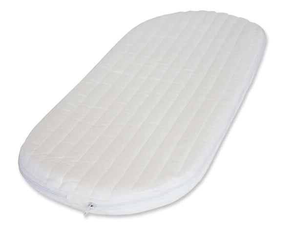 Moses Basket Mattresses Foam, Microfibre Cover,  6 Sizes - Cot Mattress Company