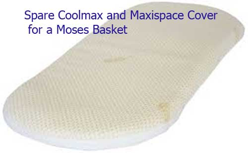 Moses Basket Mattress  Coolmax© and Maxispace Covers Only - Cot Mattress Company