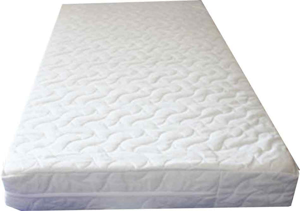126 x 63 (Size 300) or 120 x 60  Sprung Cot Mattress  -  Safetex Protective Liner  - Sea-Flower Cover - Cot Mattress Company