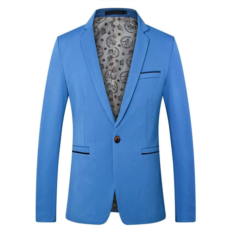 Simple Business Blazer In Blue