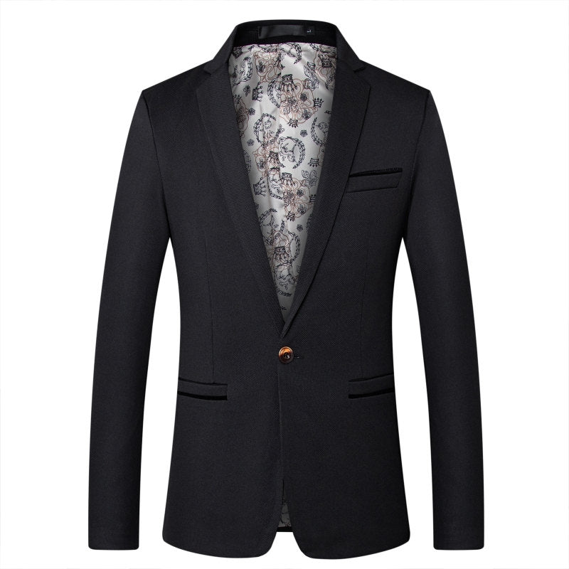 Simple Business Blazer In Black