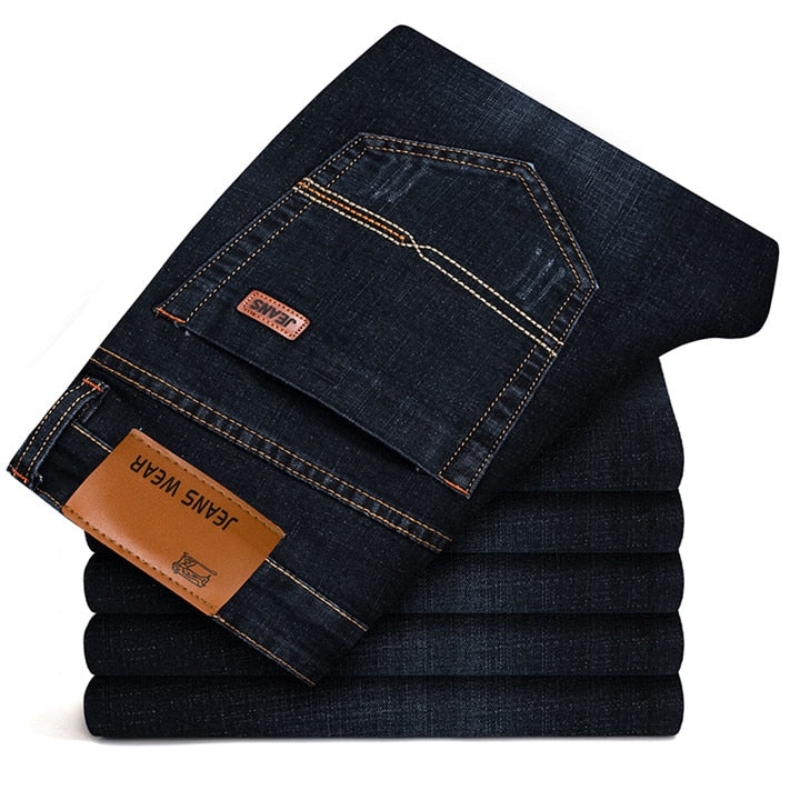 Slim Fit Stretch Jeans In Black