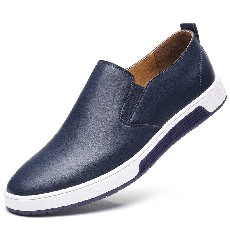 Casual Slip-On Shoes In Blue