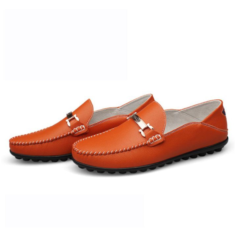 Loafers 1395 In Orange