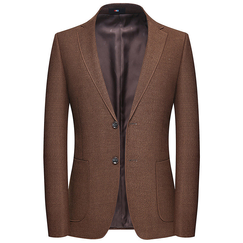 Simple Blazer In Brown