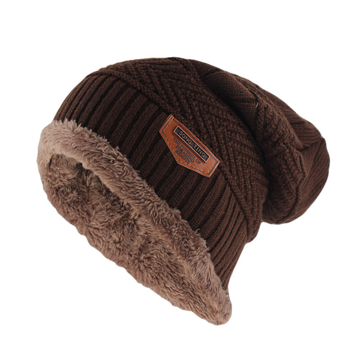 Classic Knitted Beanie In Coffee