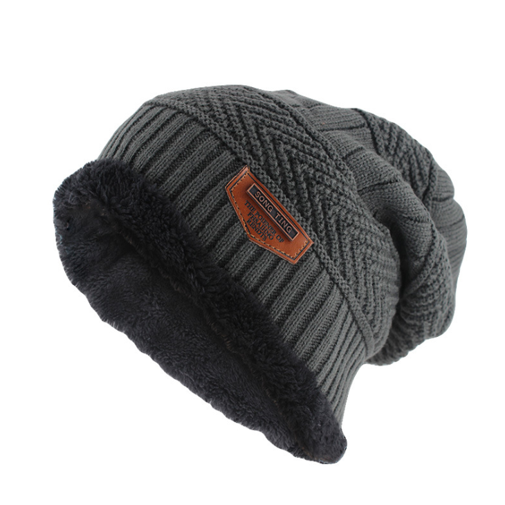 Classic Knitted Beanie In Gray