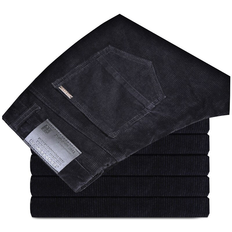 Corduroy Pants In Black