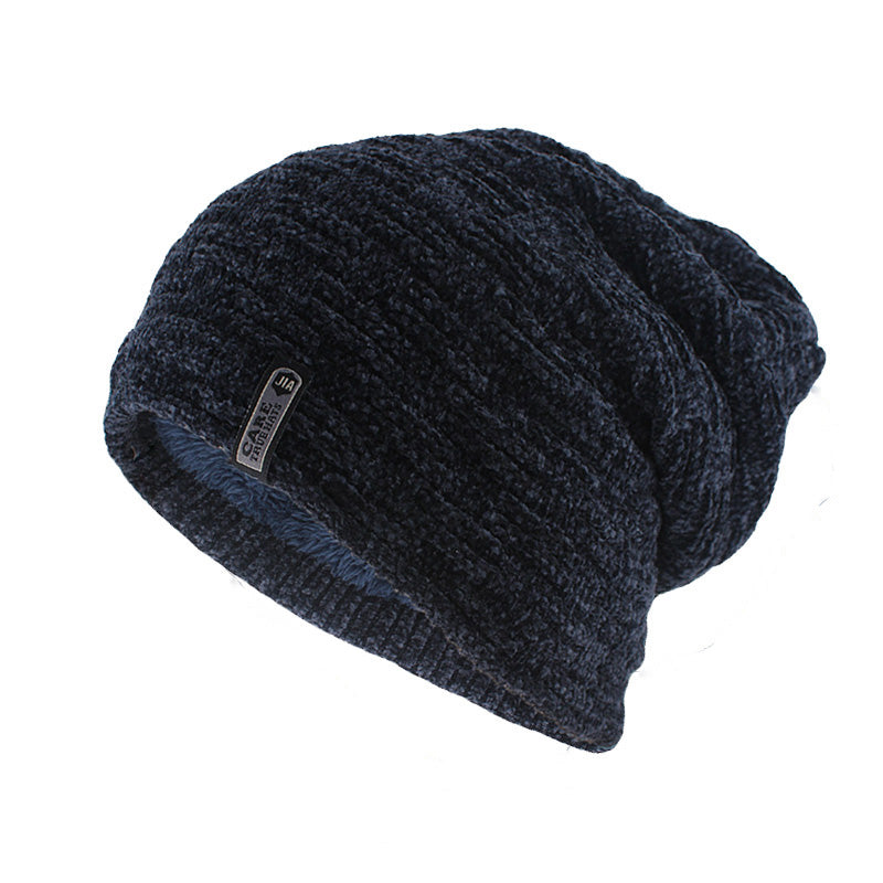 Simple Casual Beanie In Navy Blue