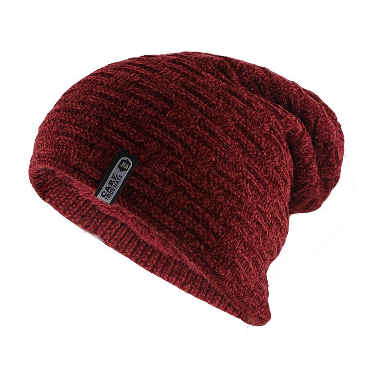 Simple Casual Beanie In Red