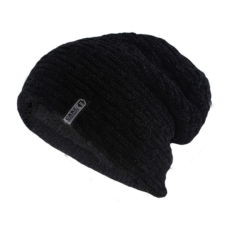Simple Casual Beanie In Black