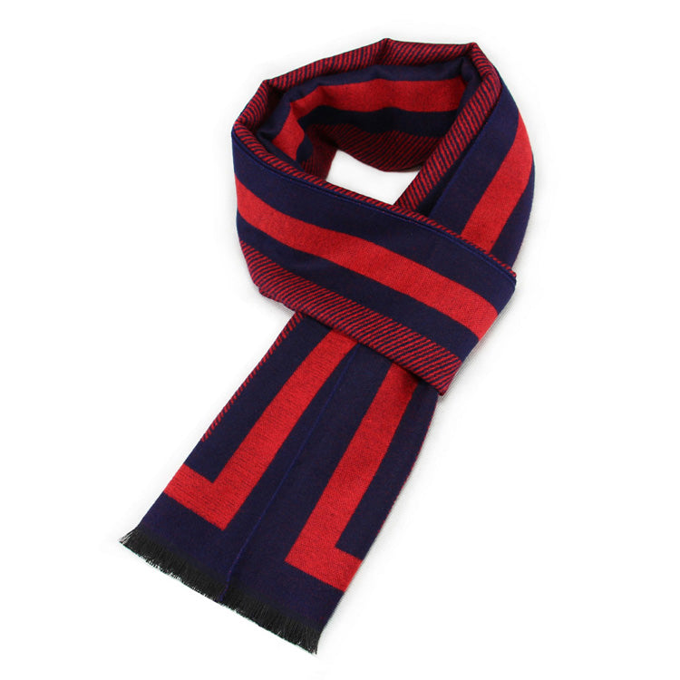 Striped Scarf In Red