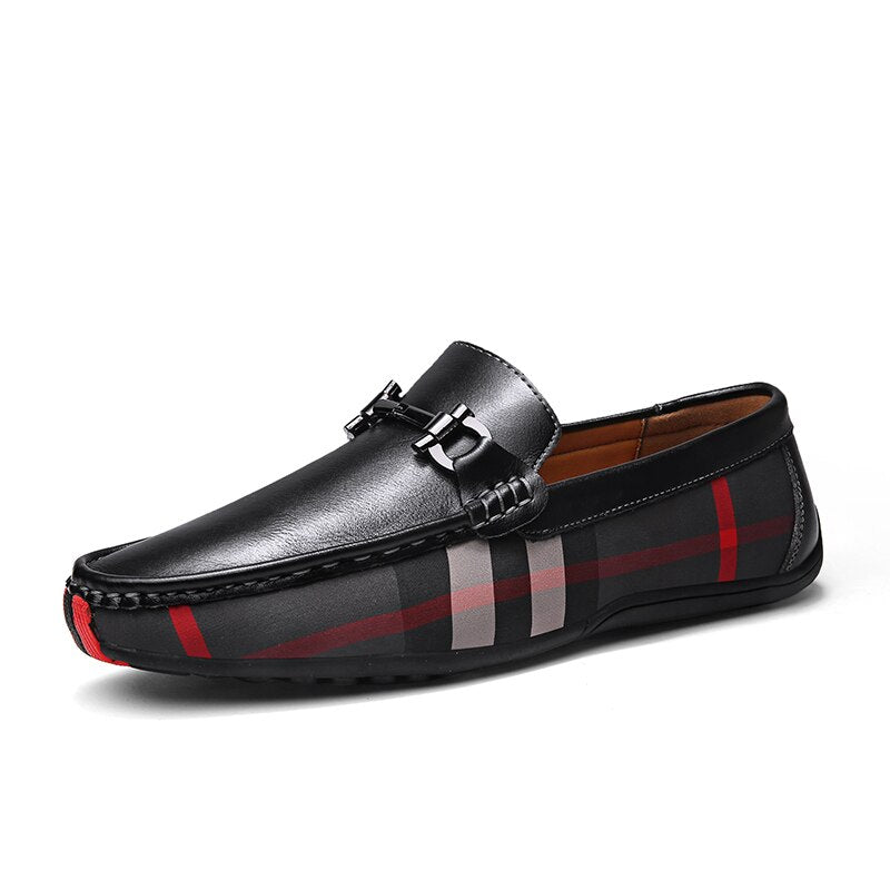 Checkered Loafers In Black