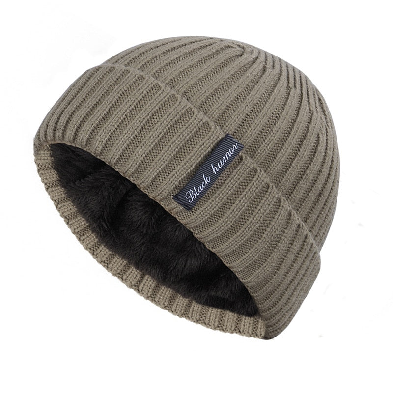 Simple Cuffed Beanie In Khaki