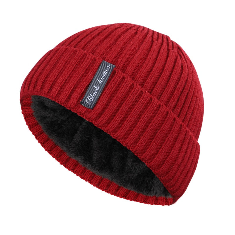 Simple Cuffed Beanie In Red