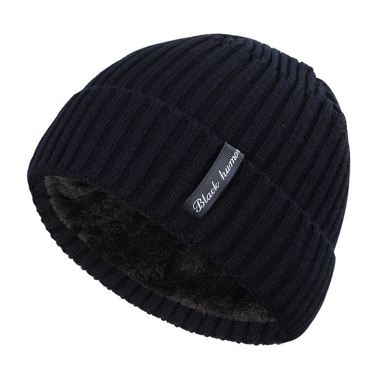 Simple Cuffed Beanie In Black