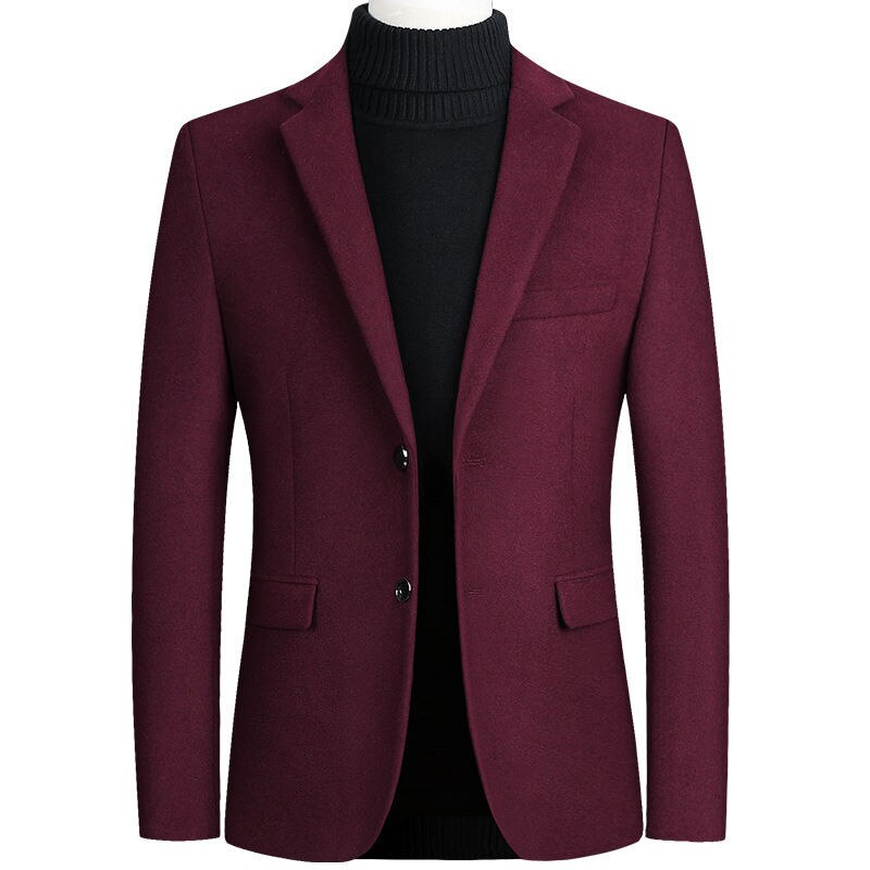 Quality Casual Blazer In Wine Red