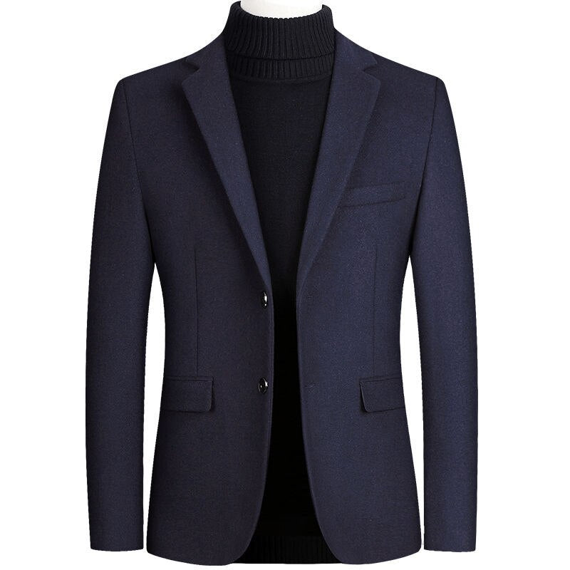 Quality Casual Blazer In Navy Blue