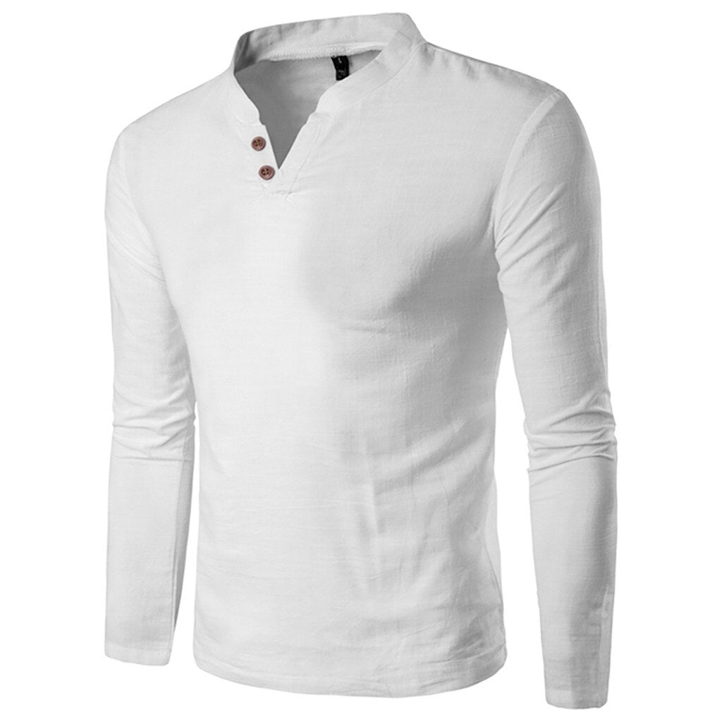 Classic Style Long Sleeve Shirt In White