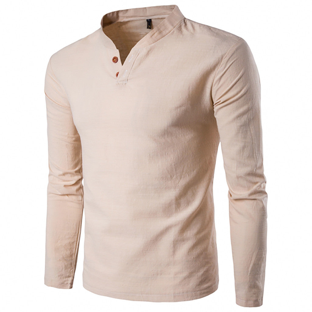 Classic Style Long Sleeve Shirt In Apricot