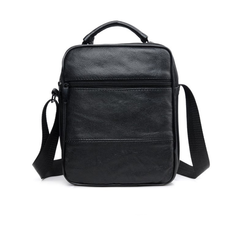 Leather Black Crossbody Bag In Black