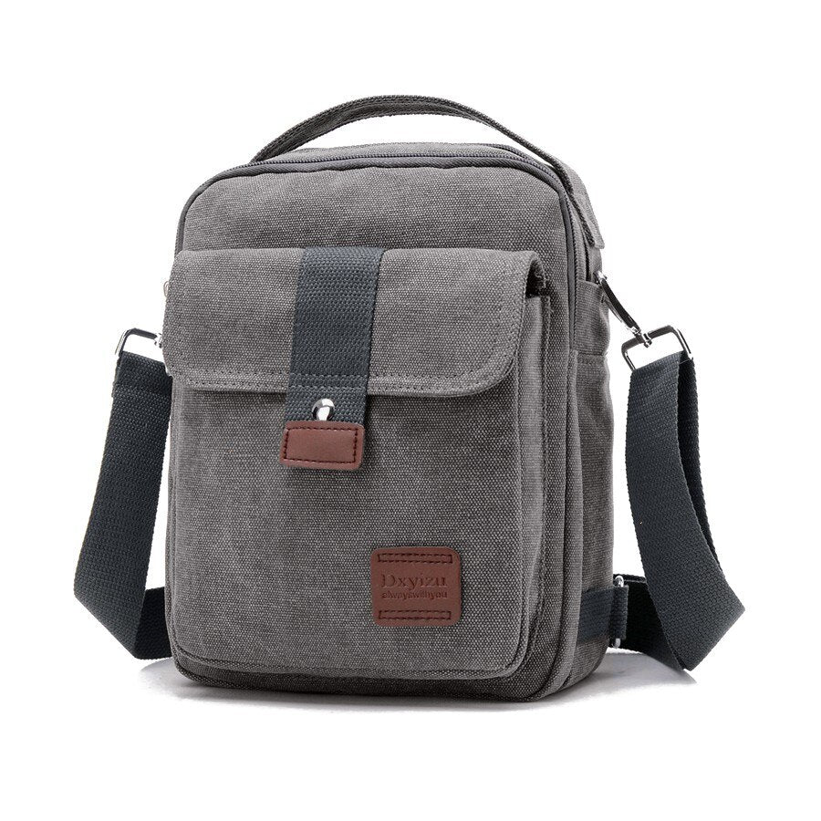 Canvas Crossbody Bag In Gray