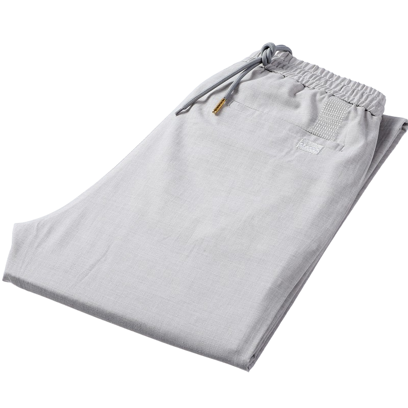 Straight Linen Pants In White