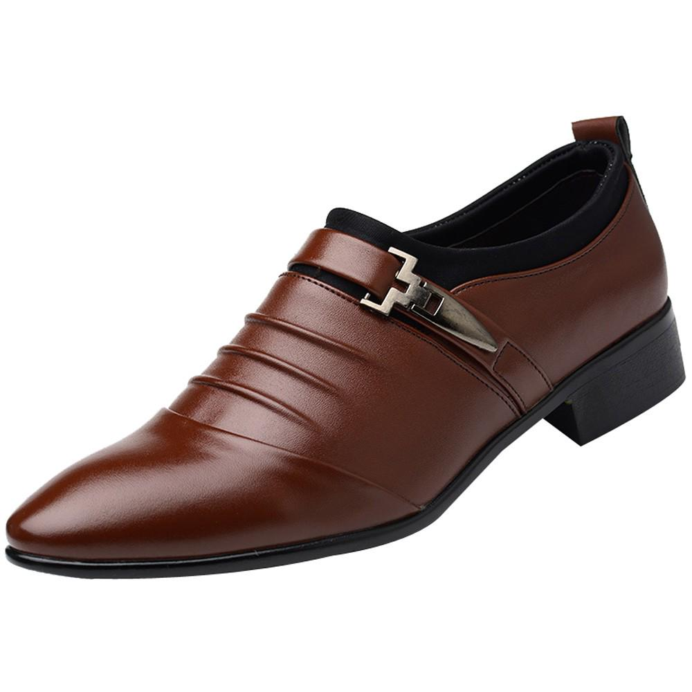 Simple Business Shoes In Brown