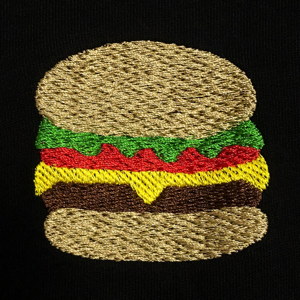 Burger Embroidered T-Shirt