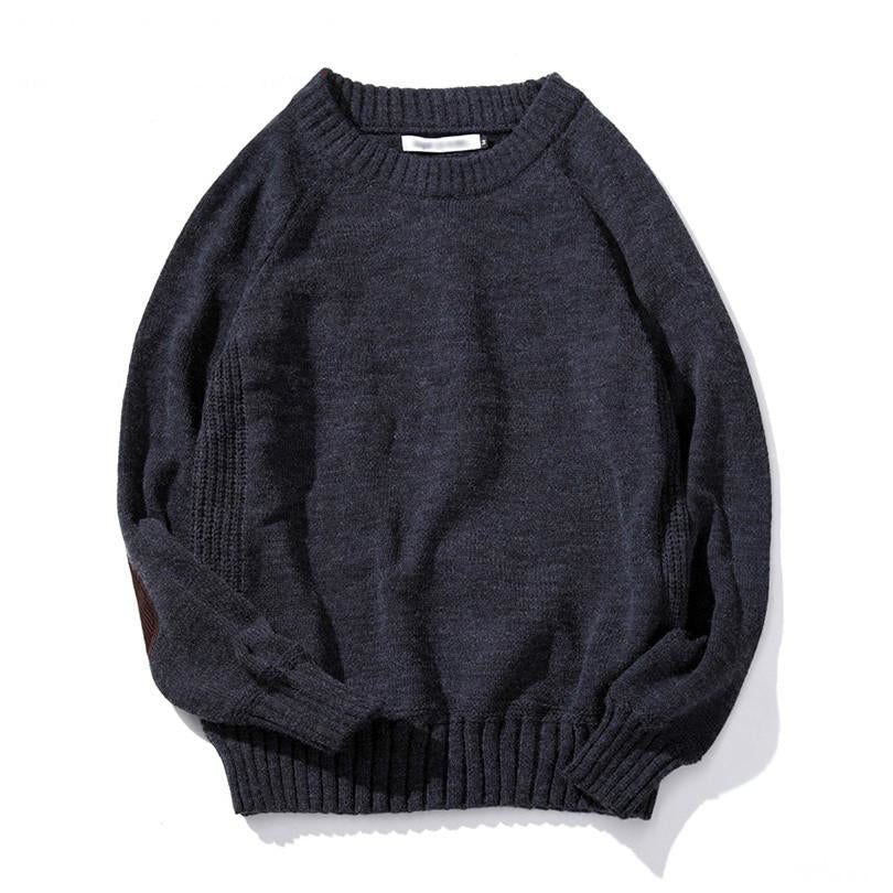 Long Sleeve Knitted Sweater In Blue