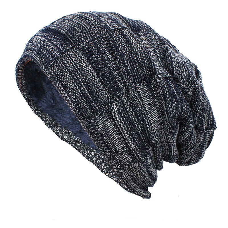 Knitted Woolen Beanie In Blue