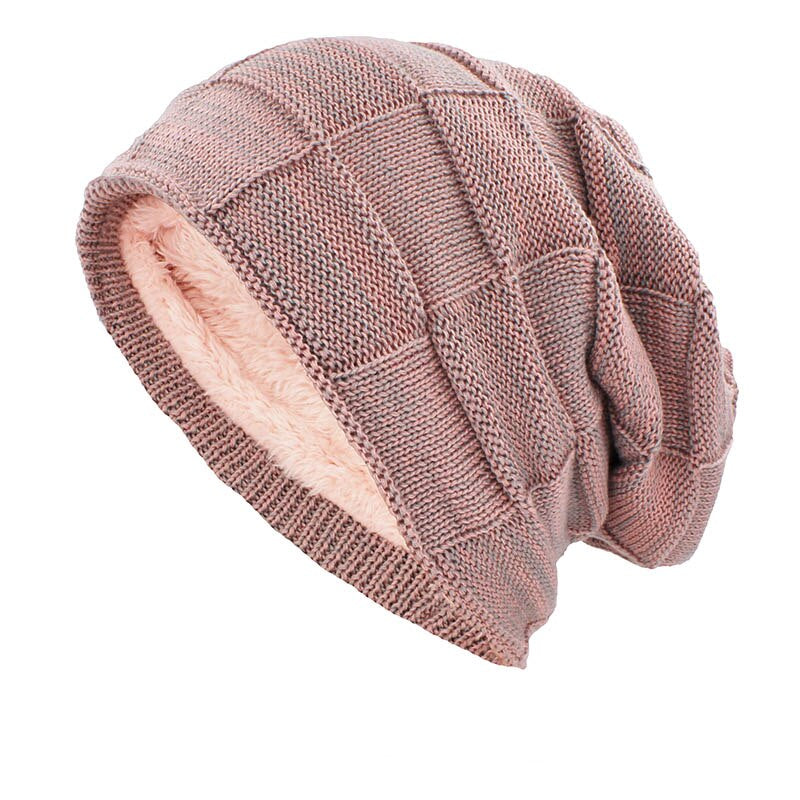 Knitted Woolen Beanie In Pink
