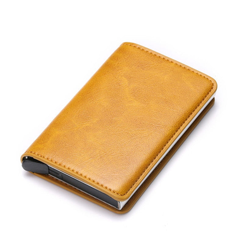 Credit Card Holder Wallet In Yellow