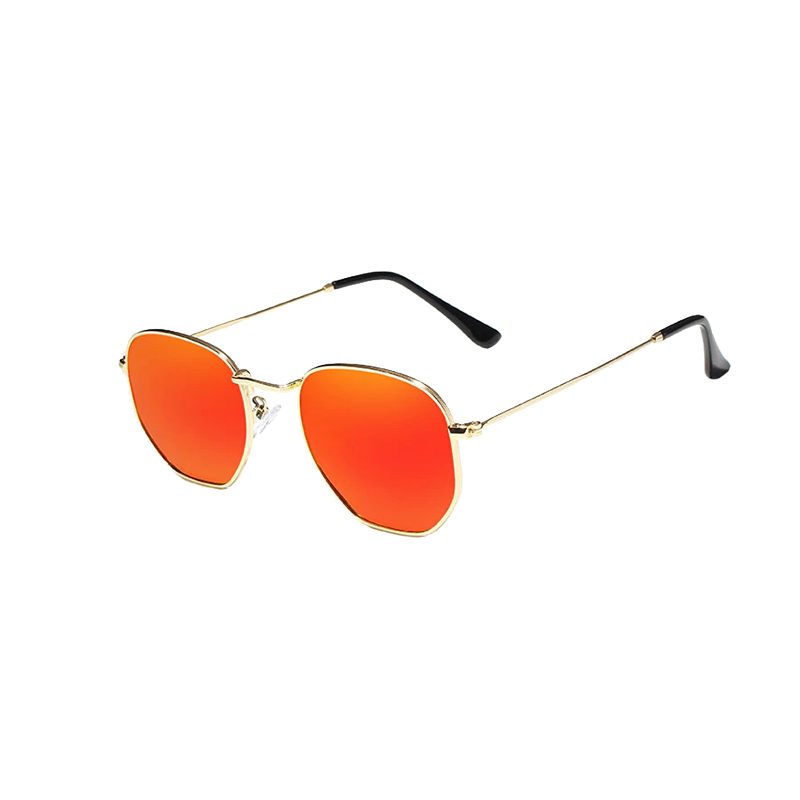 Classic Reflective Sunglasses In Red